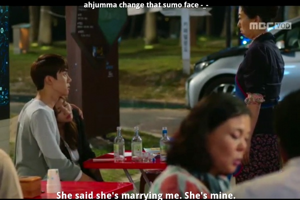 screenshot from the warm and cozy k-drama with a funny viki comment